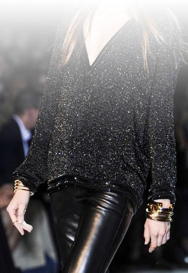 pantalon cuir tendance